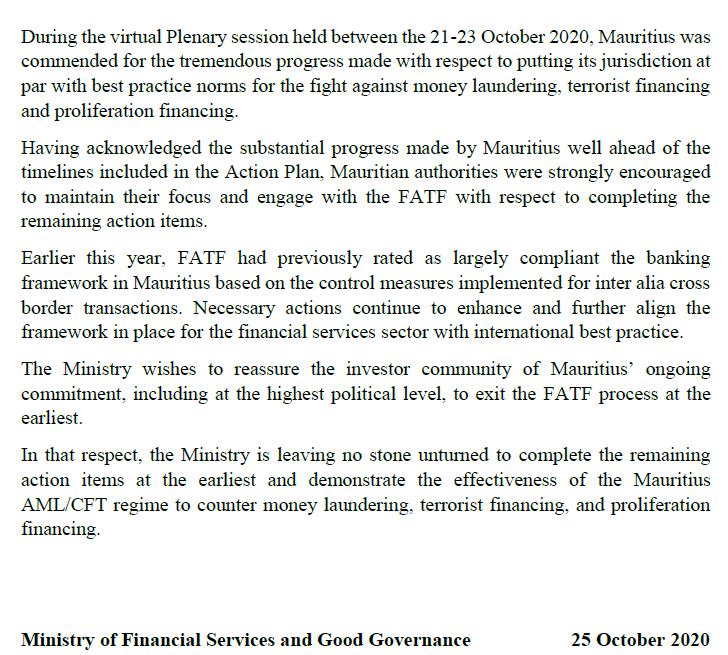 FATF Communiqué - 27.10.20